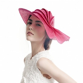 summer hat straw women pink