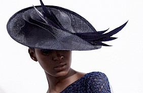 Fascinator hat blue