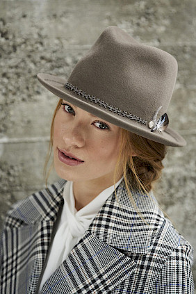 Trilby hat beige collection 2019