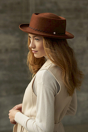 Cashmere felt – pork pie hat