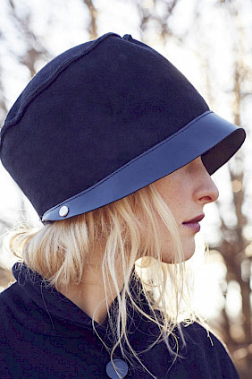 Shearling-leather – hat