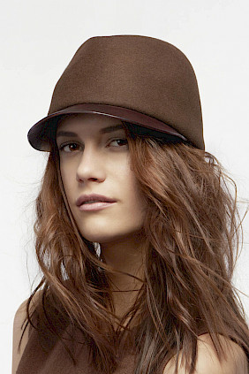 Felt-leather – cap with visor