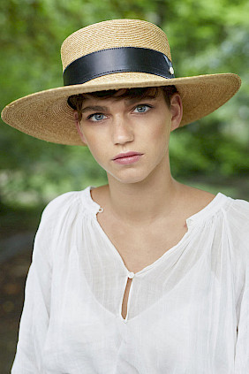 Milan straw-leather – matelot hat