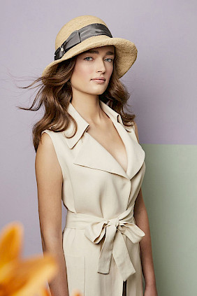 straw hat women summer beige