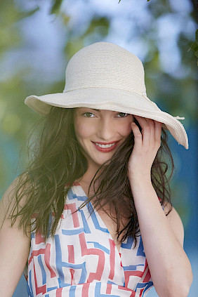 sun hat women straw beige
