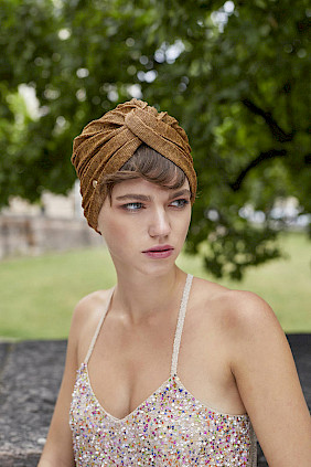 Turban gold Sommer Damen