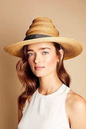 Travel collapsible packable straw hat natural