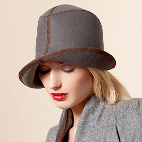 Foldable hat winter grey