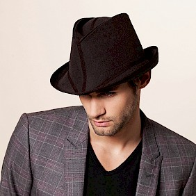 Foldable hat men travel hat