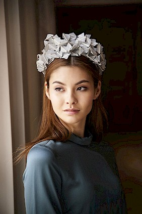 silver feather hairband Fascinator
